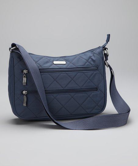 Steel Blue & Leaf Green Quilted Wanderer Hobo