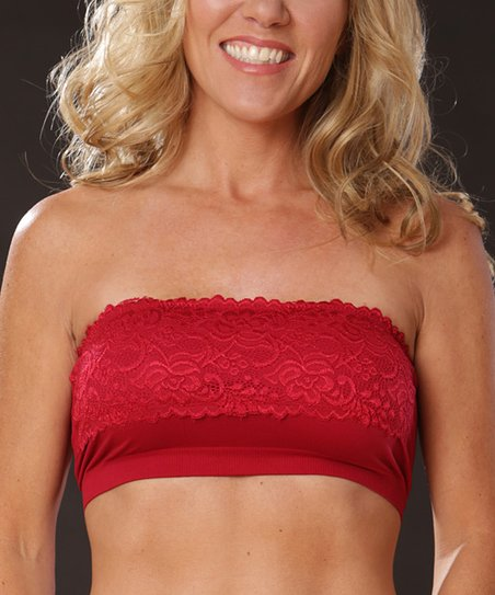 Red Lace Seamless Bandeau