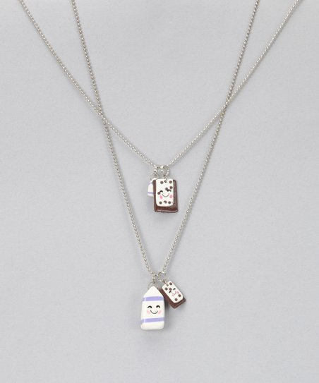 Pop-Tarts & Milk Necklace Set