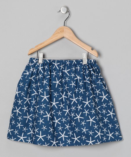 Blue Starfish Skirt - Infant, Toddler & Girls