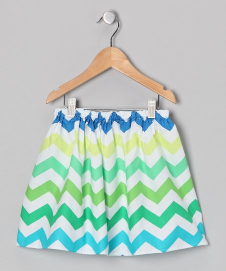 Lagoon Chevron Skirt - Infant & Toddler