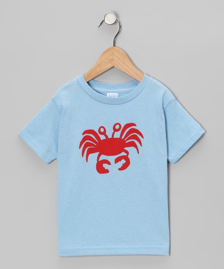 Light Blue & Red Crab Tee - Infant, Toddler & Boys