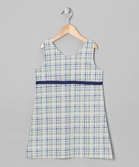 Navy &amp; White Plaid Dress - Infant, Toddler &amp; Girls