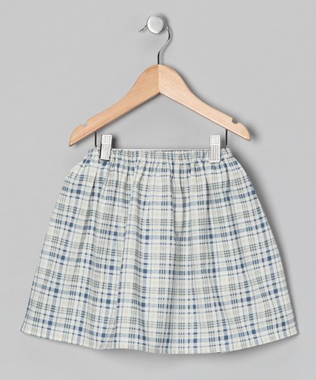 Navy & White Plaid Skirt - Infant, Toddler & Girls
