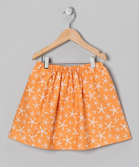 Orange Starfish Skirt - Infant, Toddler & Girls