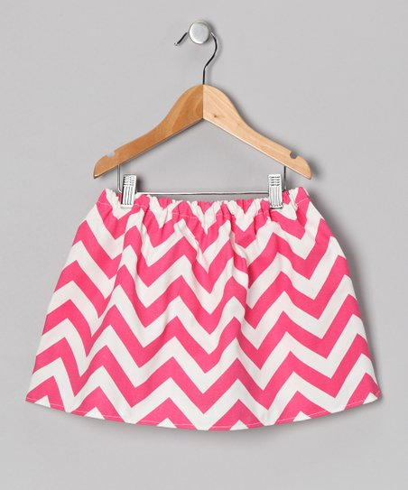 Pink & White Chevron Skirt - Infant, Toddler & Girls