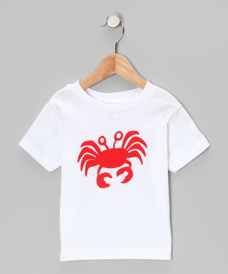 White & Red Crab Tee - Infant, Toddler & Boys