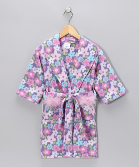 Lavender Floral Robe - Toddler & Girls