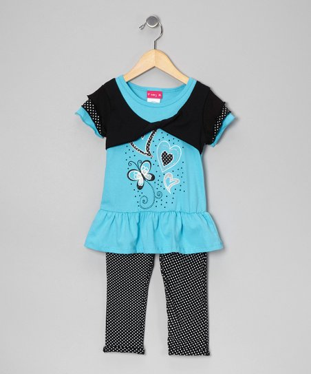 Blue Shrug Top &amp; Leggings - Infant, Toddler &amp; Girls