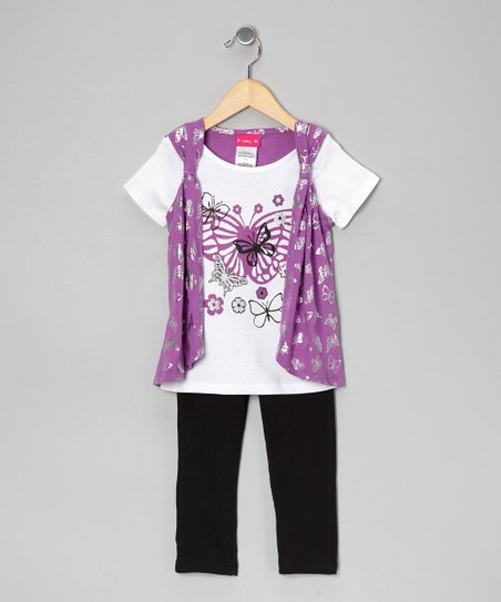 Purple Vest Top & Leggings - Infant, Toddler & Girls