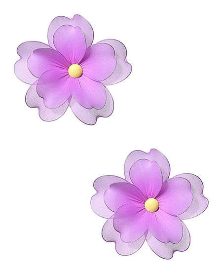 Fuchsia Multi-Layer Medium Hanging Flower - Set of Two