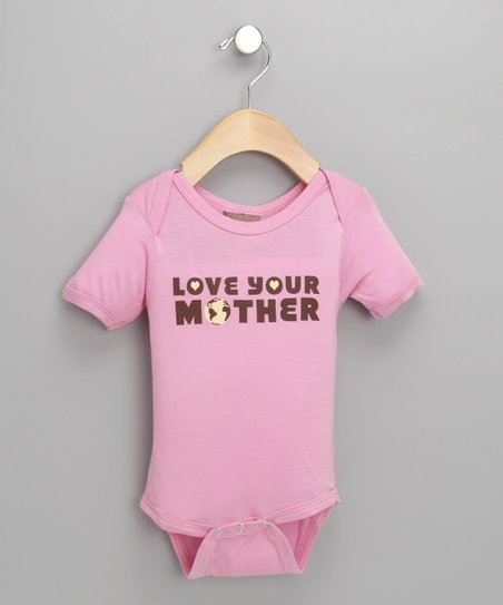 Pink 'Love Your Mother' Organic Bodysuit - Infant