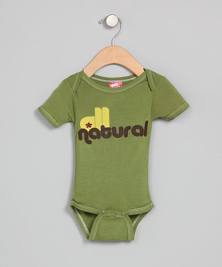 Green 'All Natural' Organic Bodysuit