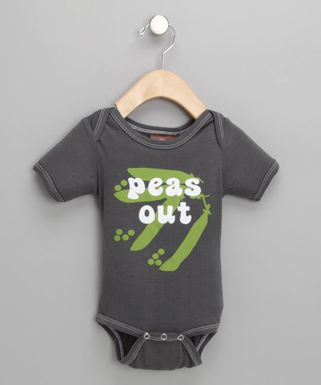 Slate 'Peas Out' Organic Bodysuit