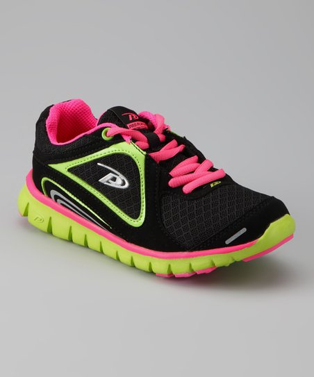 Pro Player Black &amp; Hot Pink Spectra Running Shoe - Kids