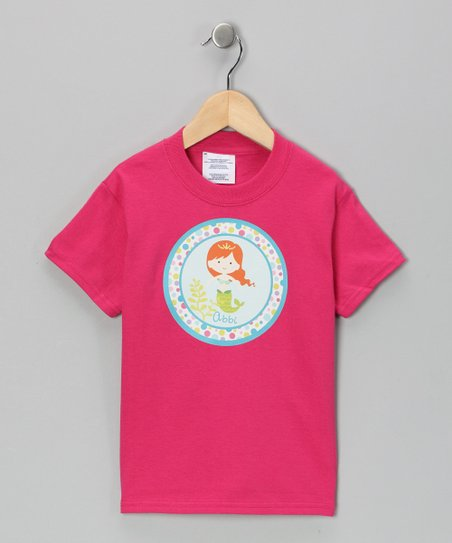 Hot Pink Personalized Mermaid Tee - Infant, Toddler &amp; Girls