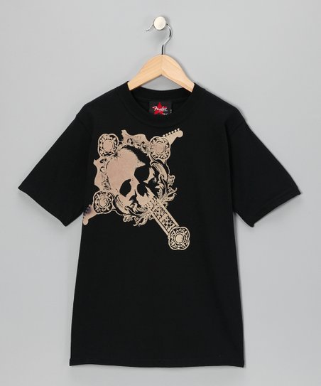 Black Fender Skull Tee - Toddler