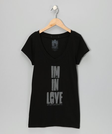 Black John Lennon 'I'm in Love' Tee - Kids