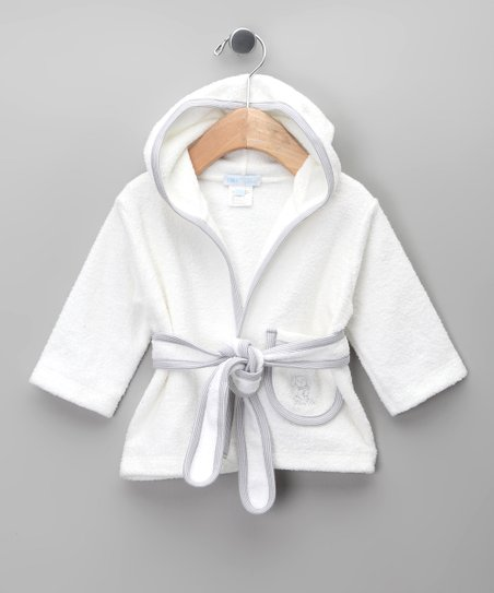 Blanco & Gris Robe - Infant & Toddler