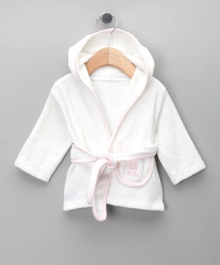 Blanco & Rosa Robe - Infant & Toddler