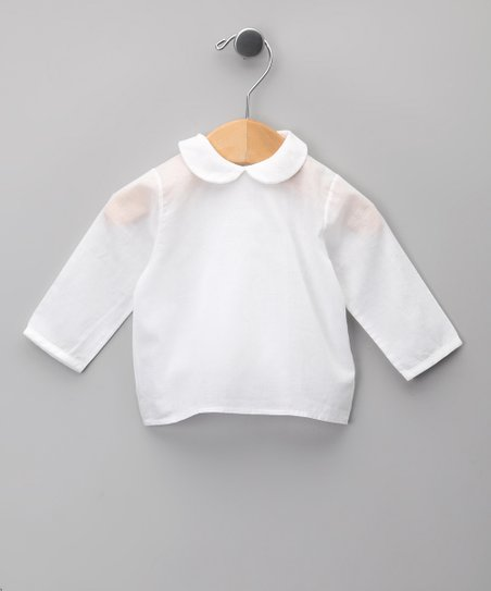 Blanco Peter Pan Overlay Top - Infant