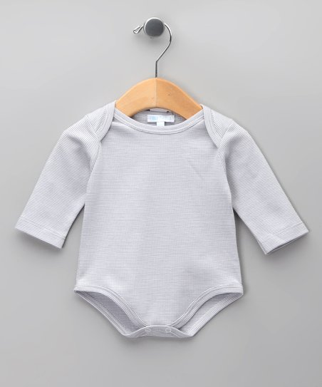 Blanco Stripe Gris Bodysuit - Infant