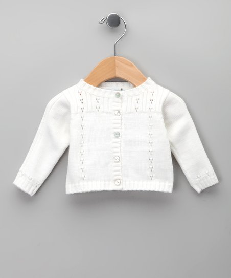 Blanco Pointelle Cardigan - Infant