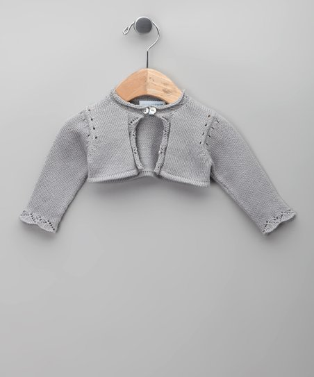 Gris Tricot Bolero - Infant, Toddler & Girls