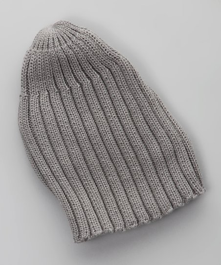 Gris Oscuro Tricot Beanie