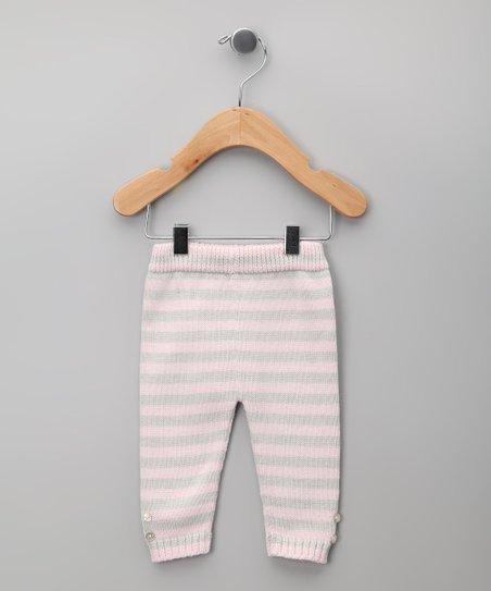 Gris &amp; Rosa Stripe Knit Pants - Infant