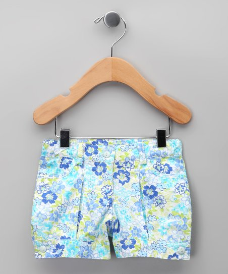 Azul Floral Shorts - Infant, Toddler & Girls