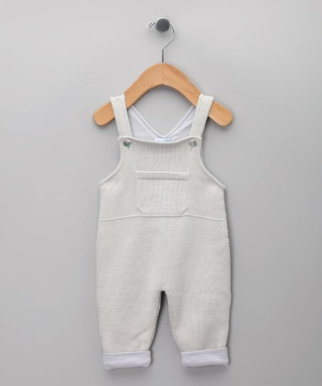 Gris Claro Knit Overalls - Infant