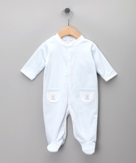 Celeste Stripe Footie - Infant