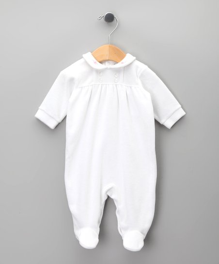 Blanco Floral Peter Pan Footie - Infant