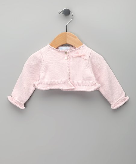 Rosa Bow Knit Tricot Bolero - Infant, Toddler & Girls