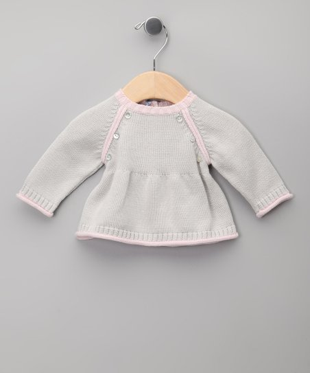 Gris & Rosa Knit Tie-Back Dress - Infant