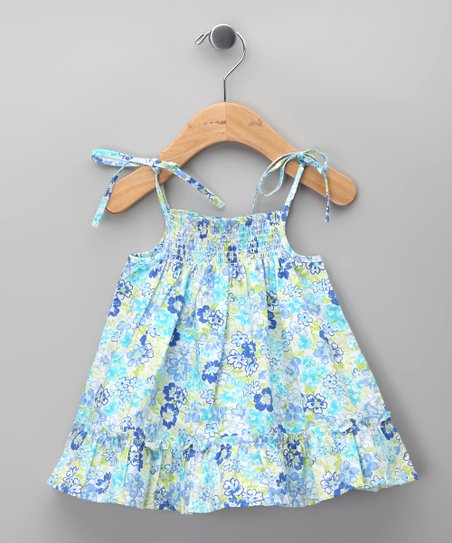 Azul Floral Shirred Dress - Infant, Toddler & Girls