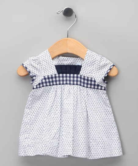 Azul Floral &amp; Checkerboard Dress - Infant, Toddler &amp; Girls