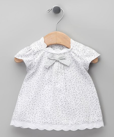 Blanco Floral Bow Dress - Infant