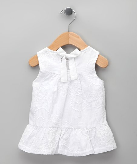 Blanco Bow Ruffle Dress - Infant, Toddler & Girls