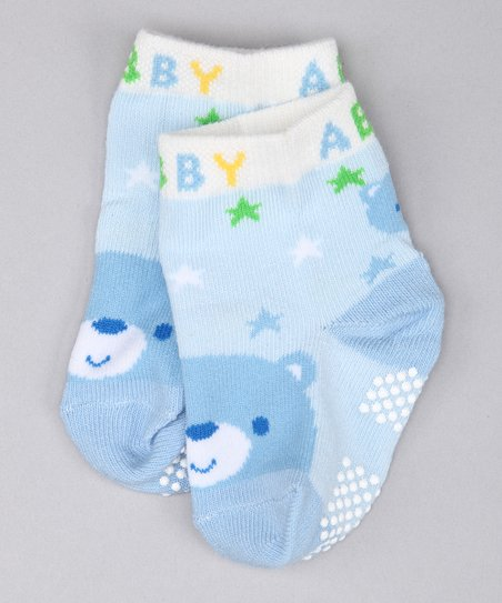 Blue Bear & Star Socks Set
