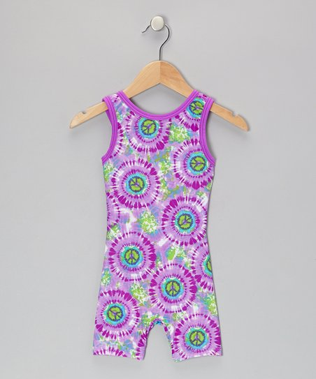 Purple Peace Biketard - Toddler & Girls