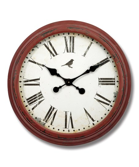 Currant Large Vintage Round Wall Clock