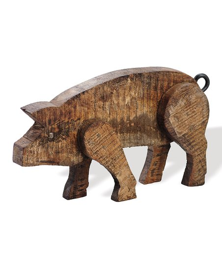Barnwood Small Pig Figure