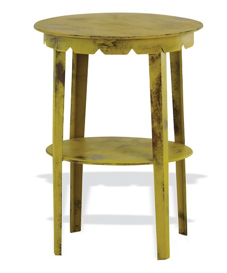 Curry Scallop Accent Table