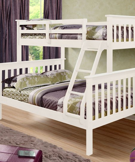White Mission Full & Twin Bunk Bed