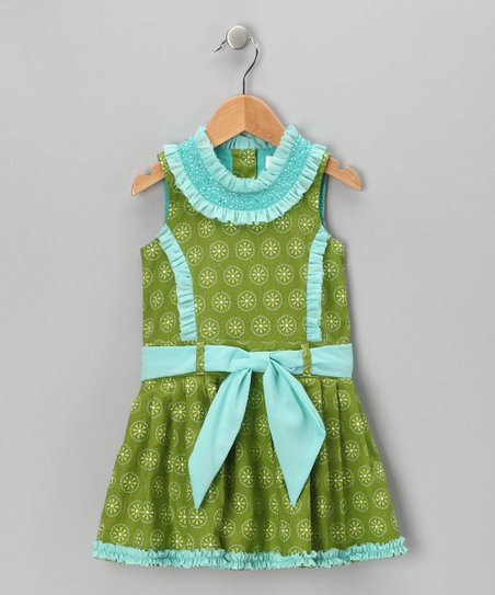 Green Daisy Princess Dress - Toddler & Girls