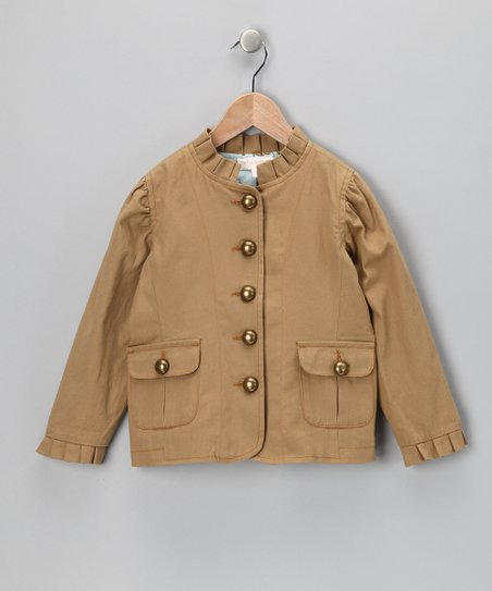 Tan & Blue Blazer - Toddler & Girls