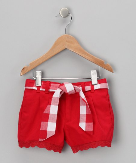 Red Denim Shorts - Toddler & Girls