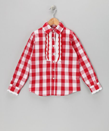 Red Plaid Shirt - Toddler &amp; Girls